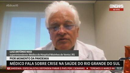 Médico fala sobre crise na saúde do Rio Grande do Sul