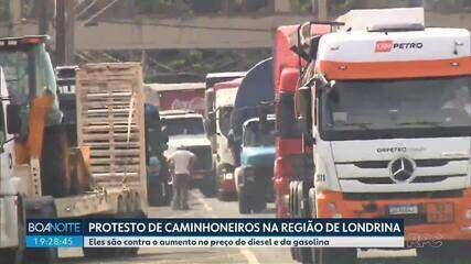 Caminhoneiros protestam na região de Londrina