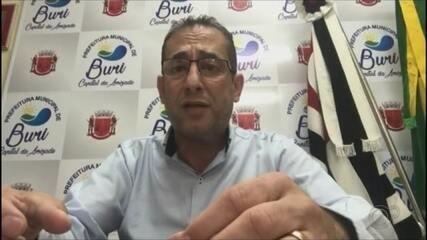 Prefeito de Buri fala sobre a situação da saúde durante pandemia
