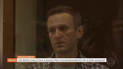 EUA anunciam sanções contra Rússia pelo envenenamento e prisão de Alexei Navalny