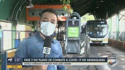 Ônibus voltam a circular em Araraquara nesta quarta-feira