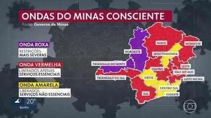 Duas regiões do estado terão medidas mais duras de combate à Covid