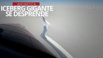 VÍDEO: Iceberg gigante se desprende da Antártica