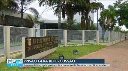 Após publicação sobre Bolsonaro em Twitter, jovem é preso em flagrante em Uberlândia