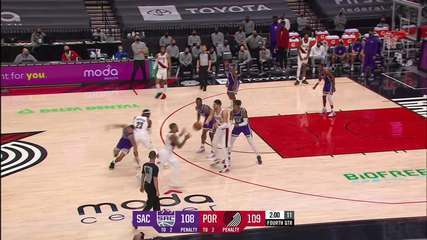 Melhores momentos: Portland Trail Blazers 123 x 119 Sacramento Kings pela NBA