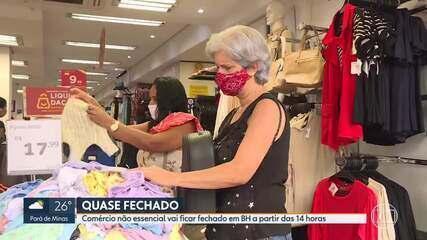Comércio de Belo Horizonte funciona na manhã de sábado (6), antes do fechamento da cidade