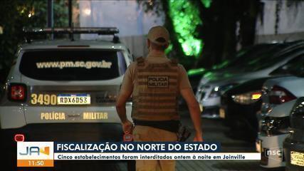 Cinco estabelecimentos são interditados em Joinville
