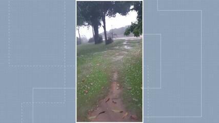 Choveu granizo em Rio Bananal, no Norte do ES