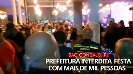 VÍDEO: Festa com mais de mil pessoas é interrompida em São Gonçalo