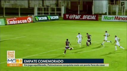Patrocinense empata com A Caldense fora de casa pelo Campeonato Mineiro