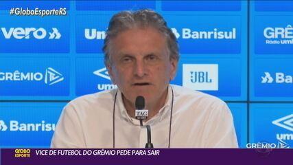 Grêmio inicia reformulação e anuncia saídas de vice de futebol e diretores