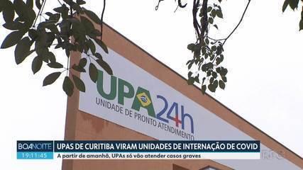 UPAs de Curitiba vão atender somente casos gravs de Coronavírus