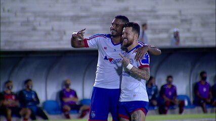 Os gols de Campinense 1 x 7 Bahia, pela primeira fase da Copa do Brasil