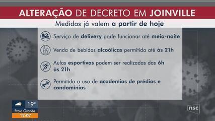 Joinville altera decreto municipal para combate da pandemia