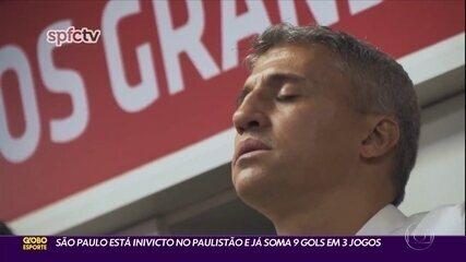 São Paulo está invicto no Paulistão e já soma 9 gols em 3 jogos