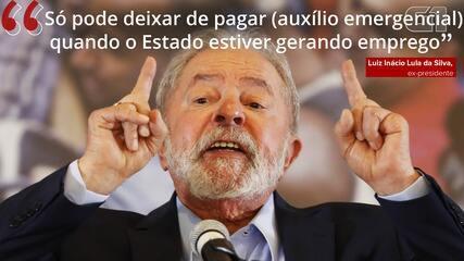 VÍDEO: 'Só pode deixar de pagar quando o Estado estiver gerando emprego', diz Lula sobre Auxílio Emergencial