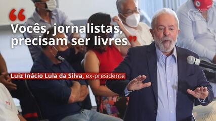 VÍDEO: 'Vocês, jornalistas, precisam ser livres', diz Lula