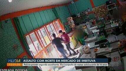 Polícia prende 2º suspeito de assalto com morte em mercado de Imbituva