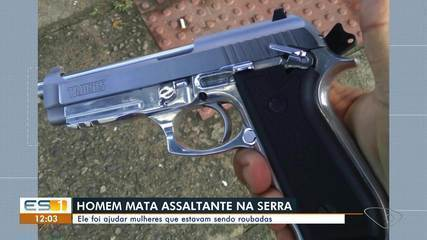Homem reagiu a assalto e matou criminoso em ponto de ônibus na Serra