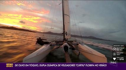 De olho em Tóquio, dupla Olímpica de velejadores curtiu Floripa no verão