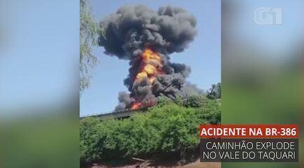 VÍDEO: veja momento em que caminhão explode no RS