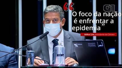 VÍDEO: 'O foco da nação é enfrentar a epidemia', diz Arthur Lira