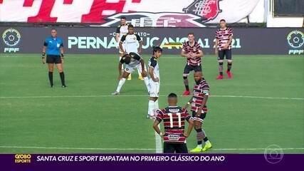 Santa Cruz e Sport ficam no empate em primeiro clássico do ano