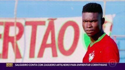 Salgueiro aposta em zagueiro artilheiro para superar o Corinthians
