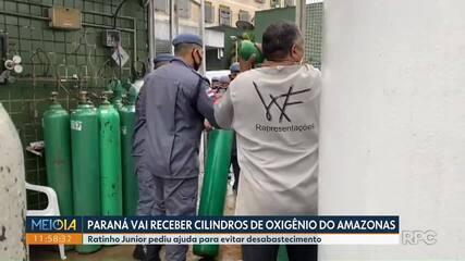Paraná vai receber 200 cilindros de oxigênio do Amazonas