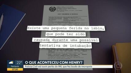 Polícia Civil vai ouvir perito do IML que fez laudo de necrópsica do menino Henry