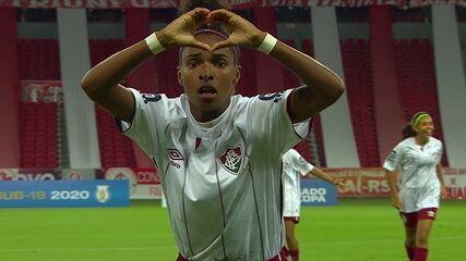 Os gols de Internacional 4 (6) x (7)1 Fluminense na final do Brasileiro Feminino Sub-18