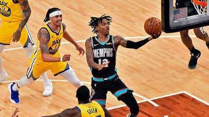 Melhores momentos: Memphis Grizzlies 111 x 103 Golden State Warriors pela NBA