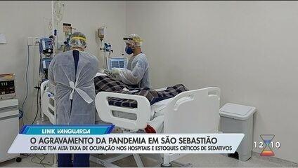Com estoque crítico, São Sebastião recebe lote com sedativos para intubar pacientes