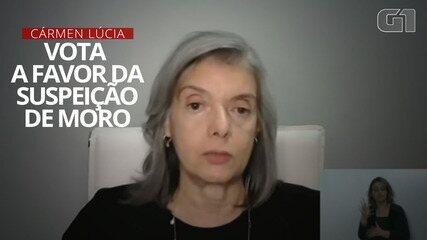 Ministra Cármem Lúcia altera seu voto e vota a favor da suspeição de Moro