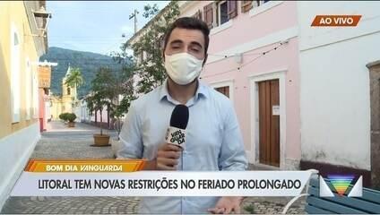 Cidades do litoral norte de SP anunciam restrições diante de megaferiado em SP