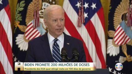 Biden promete 200 milhões de doses nos primeiros 100 dias de governo