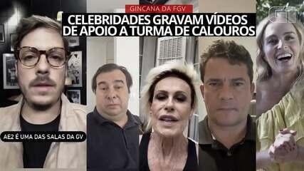 Celebridades gravam vídeos de apoio às turmas de calouros da FGV de SP