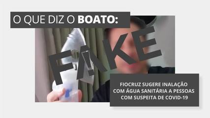 É #FAKE que Fiocruz tem sugerido inalação com água sanitária casos suspeitos de Covid-19