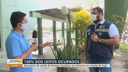 Neste sábado Amapá registra 100% dos leitos de UTI ocupados, segundo a secretaria de saúde