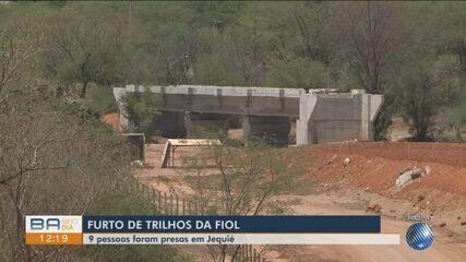 Nove pessoas são presas furtando trilhos de ferrovia na região sudoeste do estado