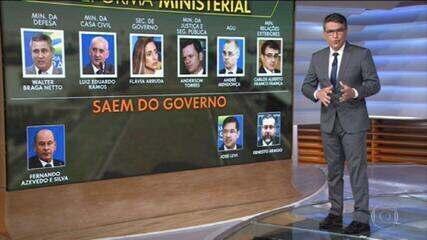 Bolsonaro troca 6 ministros, afaga o Centrão e surpreende os militares.