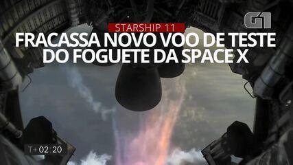VÍDEO: veja imagens do novo voo de teste do foguete Starship da SpaceX que fracassou