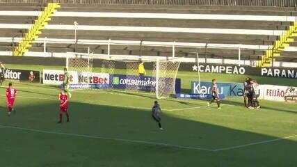 Veja o pênalti e o gol do Operário-PR na vitória de 1 a 0 sobre o Rio Branco-PR