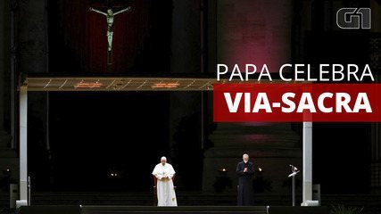 Papa Francisco celebra Via Crucis vazia no Vaticano devido à pandemia