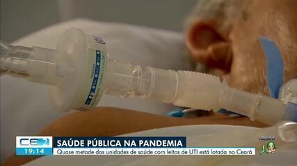 Quase metade das unidades da rede pública, com leitos de uti, está lotada no Ceará
