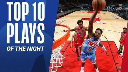 Top 10: As melhores jogadas da noite deste domingo na NBA