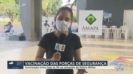 Amapá inicia a vacinação de profissionais das forças de segurança contra Covid-19
