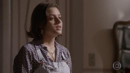 Após ser chantageada, Mari diz que voltará com Franz