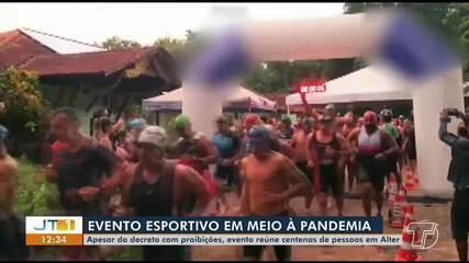 Evento esportivo realizado em Alter do Chão causa indignação por registros de aglomeração