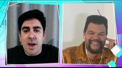 Imitando Galvão Bueno, Adnet narra momentos ao vivo do 'BBB 21'